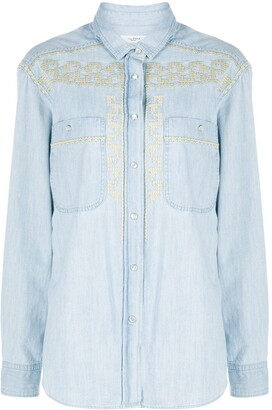 Etoile Isabel Marant Galise embroidered denim shirt