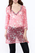 West Indies Wear Pink Starfish Tunic Top