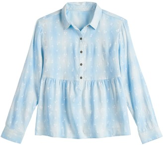 So Girls 6-20 & Plus Button-Front Plaid Babydoll Top