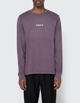 Obey LS Tee in Eggplant