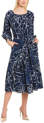 Lafayette 148 New York Aurora Silk A-Line Dress