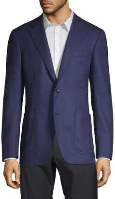Canali Dash Check Sport Jacket