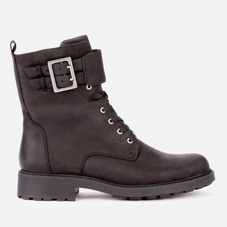 Clarks Women's Orinoco 2 Leather Lace Up Boots - Black