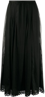 Ports 1961 Scalloped-Hem Midi Skirt