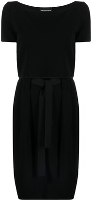 Emporio Armani Belted Short-Sleeved Dress