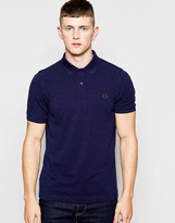 Fred Perry Polo Shirt in Slim Fit Dark Carbon