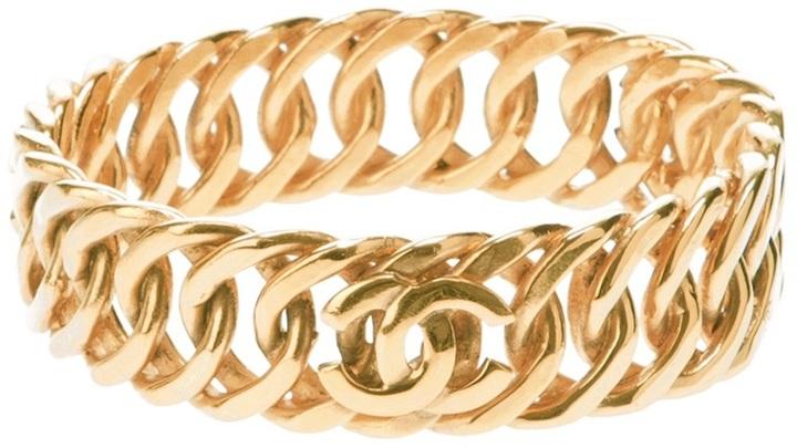 Chanel linked chain bracelet