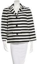 Kate Spade Striped Button Up Jacket