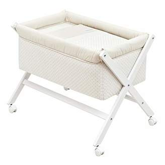 BEIGE Cambrass Small Bed/Crib X Wood Une (55 x 87 x 74 cm, Star