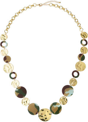 Romeo & Juliet Couture Hammered Disc and Hoop Necklace
