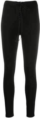 Unravel Project High-Rise Lace-Up Leggings