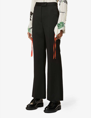 Victoria Victoria Beckham Regular-fit high-rise woven trousers