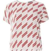 Dorothy Perkins Womens Red And Ivory Stripe Soft T-Shirt