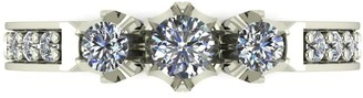 Love Diamond Lady Lynsey 9ct White Gold 50pts total 3 Stone centre Diamond Trilogy Ring
