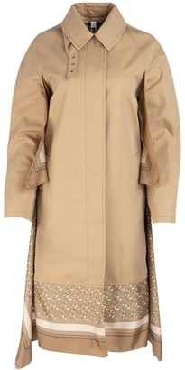 Burberry Monogram Print Silk Panel Car Coat
