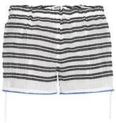 Lemlem Selina Striped Cotton Shorts