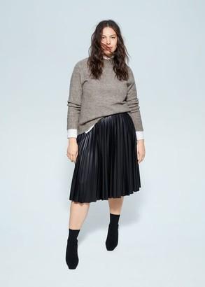 MANGO Violeta BY Long raglan sleeve sweater medium brown - S - Plus sizes