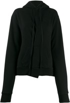 Unravel Project asymmetric pleat hoodie