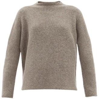 LAUREN MANOOGIAN High-neck Alpaca-wool Sweater - Womens - Grey