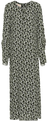 Marni Floral-printed crepe dress
