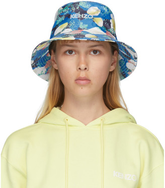 Kenzo Blue Vans Edition Floral Bucket Hat