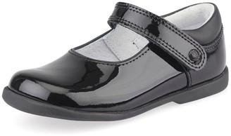 Start Rite Start-rite Younger Girls Slide School Shoes - Black Patent