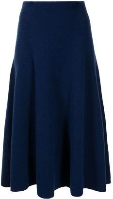 Onefifteen High-Waisted Flare Knit Skirt