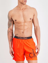 Calvin Klein Neon placed logo swim shorts