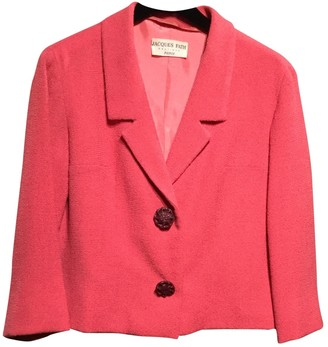 Jacques Fath Pink Wool Jacket for Women Vintage
