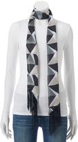 Apt. 9 Geometric Triangles Skinny Scarf