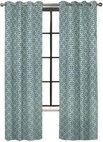 Asstd National Brand Colordrift Santana Flocked Grommet Top Curtain Panel