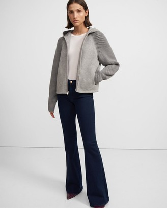 Theory Ribbed Bomber Jacket in Double-Face Wool-Cashmere