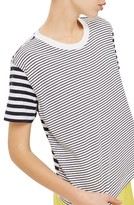 Topshop Petite Women's Mixed Breton Stripe Tee