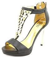 Thalia Sodi Anastasia Open Toe Leather Platform Sandal.