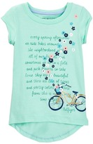 Tommy Hilfiger Bike Flowers Graphic Tee (Toddler Girls)