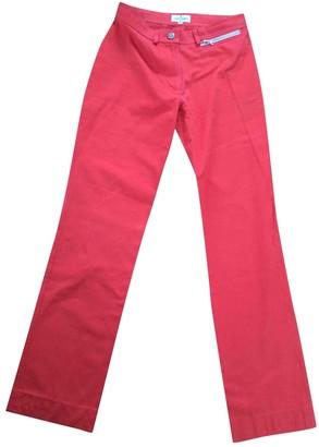 Courreges \N Orange Cotton Trousers for Women