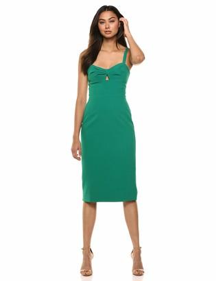 Dress the Population Women's EVE Sleeveless Cut-Out MIDI Sheath Dress