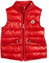 Moncler Gui Down Puffer Vest, Size 4-6