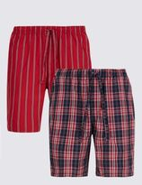 Marks and Spencer 2 Pack Pure Cotton Assorted Pyjama Shorts