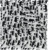 Hemisphere elephant pattern frayed scarf