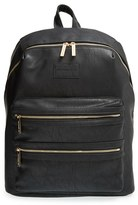The Honest Company Infant Girl's 'City' Faux Leather Diaper Backpack - Black