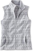 L.L. Bean Comfort Fleece, Vest Print