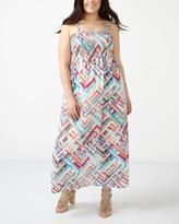 Penningtons Smocked Printed Maxi Dress