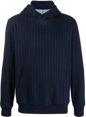 Brunello Cucinelli Striped Long-Sleeve Hoodie