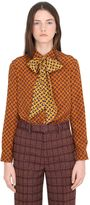 Gucci Paisley Print Crepe De Chine Silk Shirt