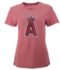 '47 Los Angeles Angels Women's Distressed Match Tri-blend Hero T-Shirt