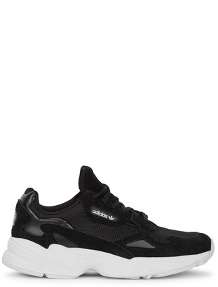 adidas Falcon black panelled sneakers