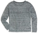 Aqua Girls' Marled Pullover Sweater - Sizes S-XL