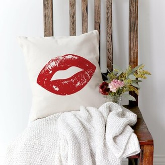 """Goldenberg Lips Cotton 16"""" Throw Pillow Cover The Holiday Aisle"""