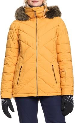 Roxy Faux Fur Trim PrimaLoft(R) Puffer Jacket